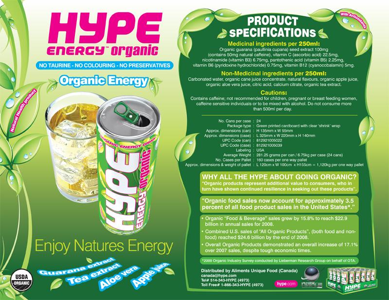 Hype Organic Sales Sheet – Pearl White Media