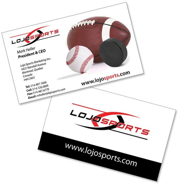 Lojo sports business card pearl white media project navigation colourmoves