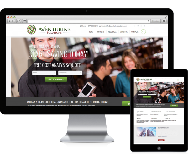 aventurine solutions website design