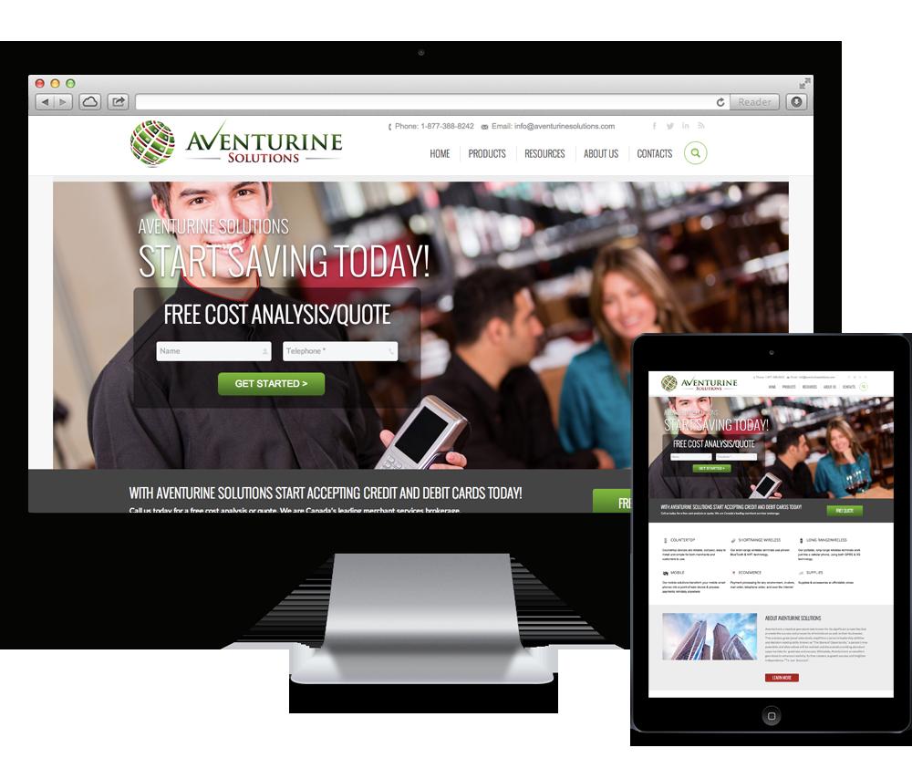 aventurine solutions website design