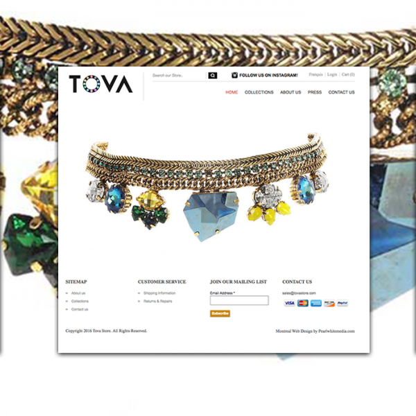 Tova Store Magento website Design