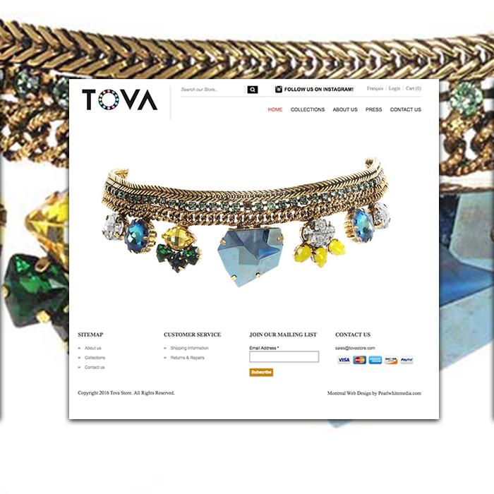 Tova Store Magento website Design