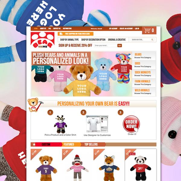 Bear with me toys Magento website design