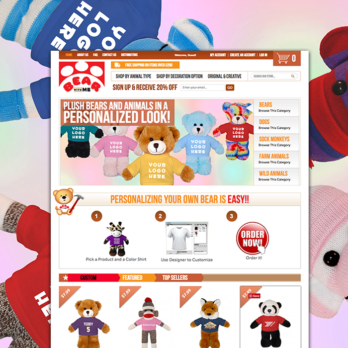Bear with me toys Magento website design