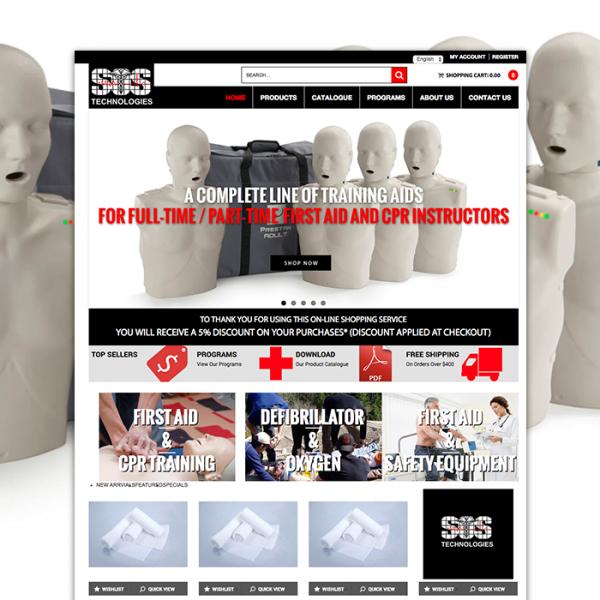 SOS technologies magento website