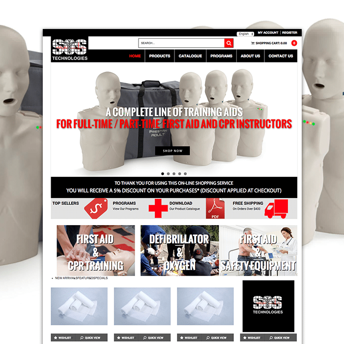 SOS technologies magento website