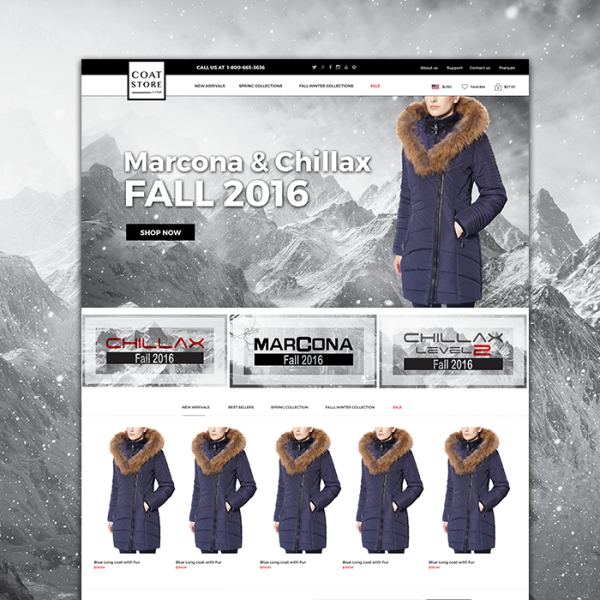 Coat Store Wordpress Woocommerce