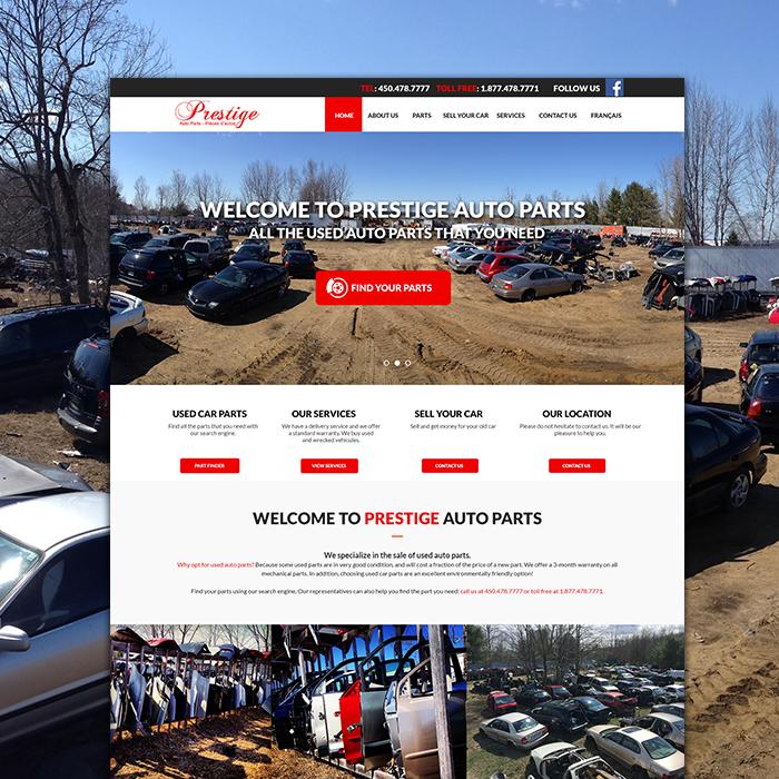 Prestige Auto Website Design