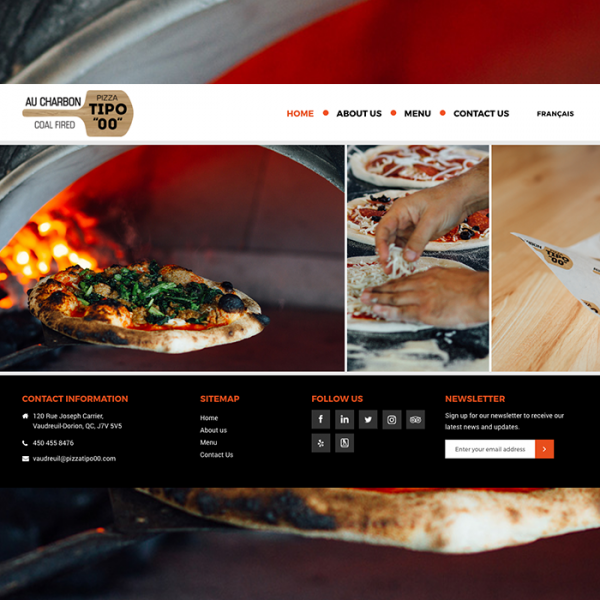 pizzatipoo montreal website design