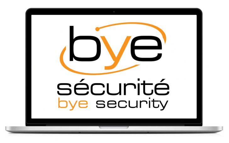 bye securite logo design