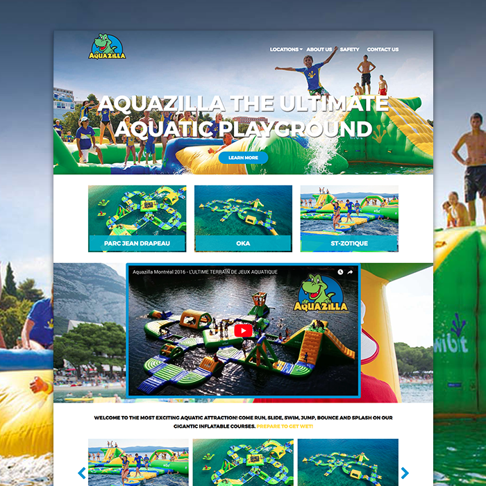 aquazilla web design