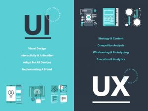 ux and ui wed design pearl white media
